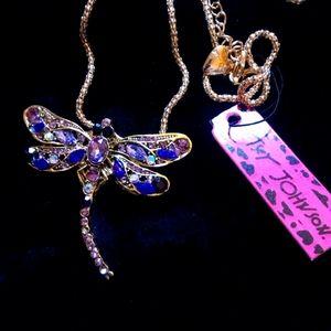 Betsy Johnson Dragonfly Necklace, NWT